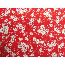 Fields Of Daisies Cotton- Red #PW1252