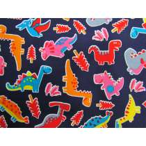 Dinosaur Dance Cotton- Navy #PW1244