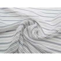 Whisper Stripe Silk Chiffon Yoryu