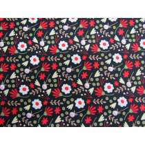 Homegrown Bouquet Cotton- Black #PW1261