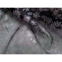 Flower Dance Glitter Organza- Black