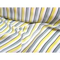 Lounge Stripe Crepe de Chine- Banana