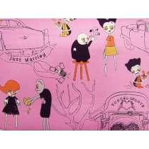 Zombie Love Cotton- Pink #3135