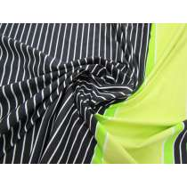 Laser Light Stripe Spandex Panel- Lime #3147