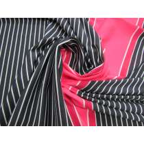 Laser Light Stripe Spandex Panel- Strawberry #3149