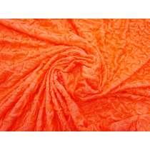 Lightweight Crinkled Spandex- Orange Popsicle #3150