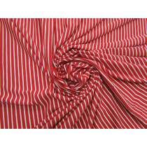 Cherry Stripe Viscose Jersey #5057