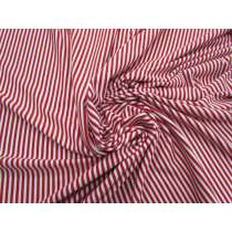 Candy Red Stripe Viscose Jersey #5058