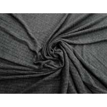Ribbed Rayon Blend Jersey- Storm Grey #5063