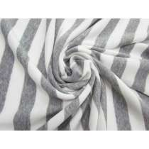 Striped Fleece- Light Grey #5065