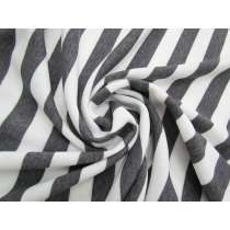 Striped Fleece- Dark Grey #5066