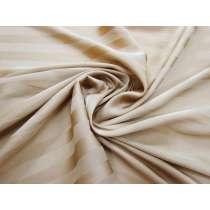 Subtle Stripe Satin Chiffon- Latte #3134
