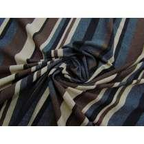 Layered Stripe Viscose Jersey- Earth #3142