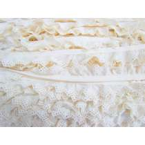 25mm Bunting Lace Trim- Cream #347