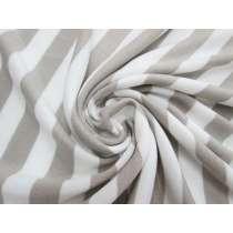 Striped Fleece- Beige #5087