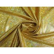 Shattered Glass Spandex- Light Gold