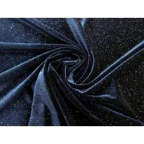 Glitter Spot Stretch Velvet- Glam Navy #3268