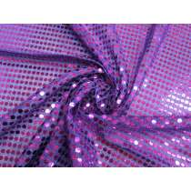 6mm American Sequin- Cerise on Purple #3285