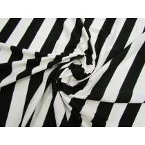 Black & Cream Mid Stripe Viscose Jersey #3294