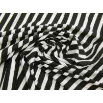Black & Cream Thin Stripe Viscose Jersey #3293