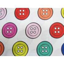 Dandelyne Delights Cotton- DV3638- Buttons White