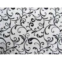 Classic Scroll Cotton- White Black (Night & Day)