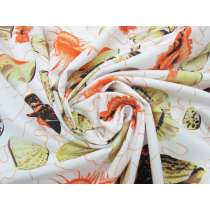 *Seconds* Seashell Cotton Jersey- Orange #5113- Reduced from $14.95m
