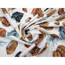 *Seconds* Seashell Cotton Jersey- Blue #5114- Reduced from $14.95m