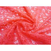 Stella Floral Lace- Bright Coral #1324