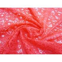 Stella Floral Lace- Bright Coral #1324