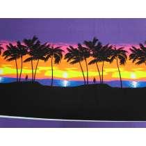 88cm Panel- Fluro Sunset Cotton Jersey #5125