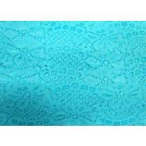 60mm Stretch Lace Trim- Clear Aqua #353