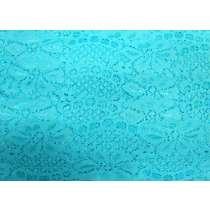 60mm Stretch Lace Trim- Clear Aqua #353