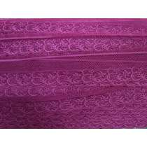 40mm Fine Lace Trim- Passion Pink #362