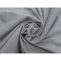 Checkered Cotton Blend Jersey- White / Black #5131