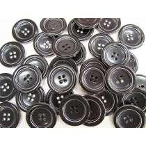 35mm Large Black Fashion Button FB165