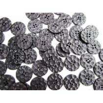 25mm Black Stone Look Button FB170