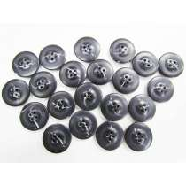 20mm Black Fashion Button FB171