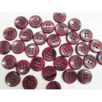 17mm Maroon/Black Fashion Button FB174