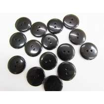20mm Sheer Black Fashion Button FB175
