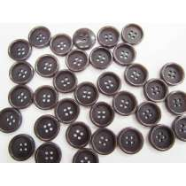 18mm Dark Plum Fashion Button FB179