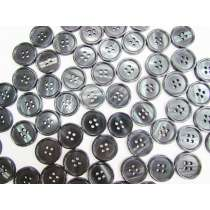 21mm Dark Green/Black Fashion Button FB180