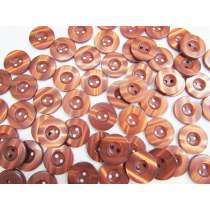 18mm Shiny Brown Fashion Button FB182