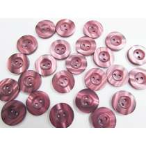18mm Shiny Mauve Fashion Button FB183