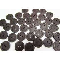 20mm Dark Chocolate Brown Fashion Button FB189