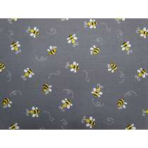 Bumble Bee Cotton- Grey D#9715
