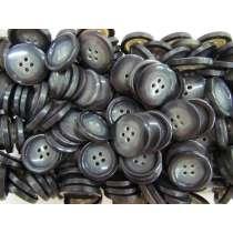 22mm Dark Grey Fashion Button FB196
