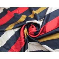 Eccentric Stripe Silk Satin #3395