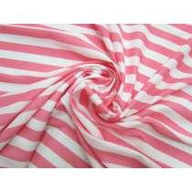 Soft Interlock Jersey- Pink Lemonade Stripe #5190