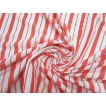 Double Stripe Lightweight Ribbed Jersey- Grapefruit #5195